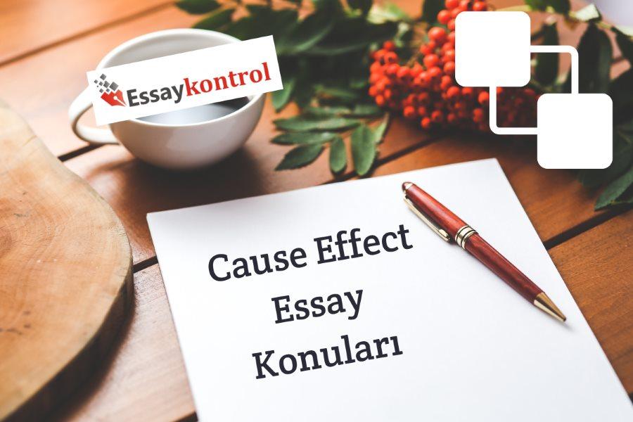 Cause & Effect Essay Konuları